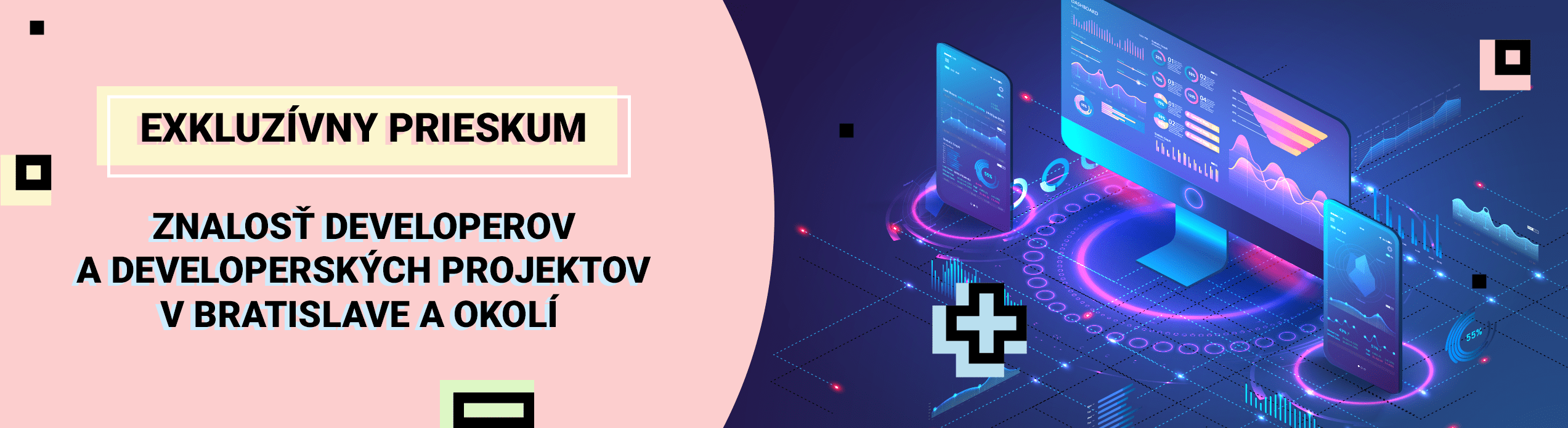 Výsledky exkluzívneho prieskumu: Znalosť developerov a developerských projektov v Bratislave a okolí