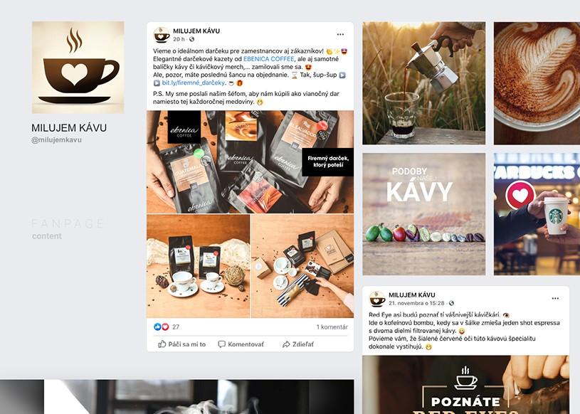 Spolupráca Ebenica & Milujem kávu